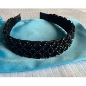 NEW!! H&M Black Beaded Headband O/S